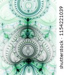 green fractal clockwork ... | Shutterstock . vector #1154221039