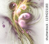 light green and pink fractal... | Shutterstock . vector #1154221183