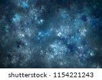 abstract blue fractal nebula ... | Shutterstock . vector #1154221243