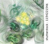 light green fractal spirals ...   Shutterstock . vector #1154221546