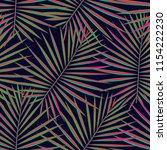 tropical pattern seamless... | Shutterstock .eps vector #1154222230