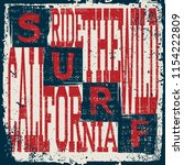 california surf wear typography ... | Shutterstock .eps vector #1154222809