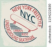 new york skate typography... | Shutterstock .eps vector #1154222830