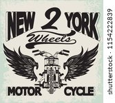 motorcycle racing typography... | Shutterstock .eps vector #1154222839