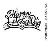 international literacy day... | Shutterstock .eps vector #1154223766