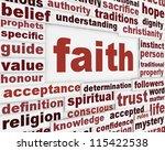faith message background.... | Shutterstock . vector #115422538