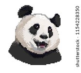 panda head pixel art vector.... | Shutterstock .eps vector #1154228350