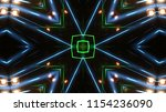 club party stage lights are... | Shutterstock . vector #1154236090