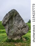 large leaning stone at avebury  ... | Shutterstock . vector #1154237773