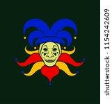 cartoon joker character in cap... | Shutterstock .eps vector #1154242609
