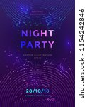disco party poster vector... | Shutterstock .eps vector #1154242846