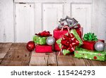 christmas presents and... | Shutterstock . vector #115424293