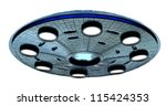 ufo with clipping path   Shutterstock . vector #115424353