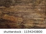 rustic old brown wood... | Shutterstock . vector #1154243800
