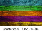 rustic colorful old wood... | Shutterstock . vector #1154243803