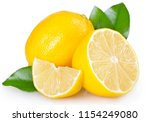 fresh lemon isolated on white... | Shutterstock . vector #1154249080