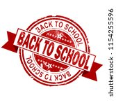 back to school red vintage... | Shutterstock . vector #1154255596