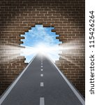 break through to opportunity... | Shutterstock . vector #115426264
