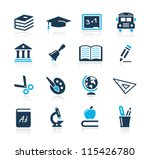 education icons     azure series | Shutterstock .eps vector #115426780