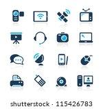 communication icons     azure...   Shutterstock .eps vector #115426783