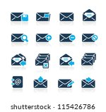 e mail icons    azure series | Shutterstock .eps vector #115426786