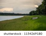 landscape of  pond in large... | Shutterstock . vector #1154269180