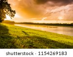 landscape of evening before... | Shutterstock . vector #1154269183