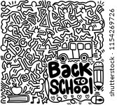 back to school poster with... | Shutterstock .eps vector #1154269726