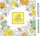 background with neroli  orange... | Shutterstock .eps vector #1154272339