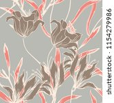elegance pattern with flowers... | Shutterstock .eps vector #1154279986