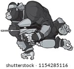 vector cartoon clip art... | Shutterstock .eps vector #1154285116