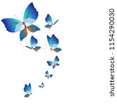 beautiful butterflies  blue... | Shutterstock . vector #1154290030