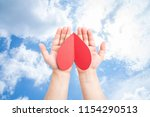 blue sky and white clouds ... | Shutterstock . vector #1154290513