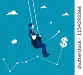 market swing concept. business... | Shutterstock .eps vector #1154293366