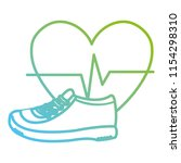 heart cardio with tennis shoes | Shutterstock .eps vector #1154298310
