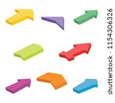 set of eight colorful isometric ... | Shutterstock .eps vector #1154306326