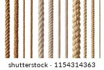 collection of  various ropes... | Shutterstock . vector #1154314363