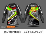 long sleeve motocross jerseys t ... | Shutterstock .eps vector #1154319829