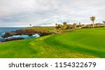 golf course along rocky... | Shutterstock . vector #1154322679