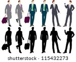 businessman silhouette | Shutterstock .eps vector #115432273