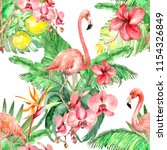 watercolor seamless pattern... | Shutterstock . vector #1154326849