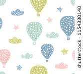 childish seamless pattern with... | Shutterstock .eps vector #1154330140