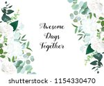 summer botanical vector design... | Shutterstock .eps vector #1154330470
