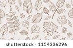 vintage floral pattern. autumn...   Shutterstock .eps vector #1154336296