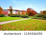 view of a city park in... | Shutterstock . vector #1154336350