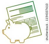 financial documents with piggy...   Shutterstock .eps vector #1154337610