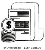 financial documents with coins   Shutterstock .eps vector #1154338609