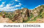 tourists taking pictures to the ... | Shutterstock . vector #1154342236