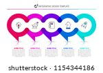 infographic design template.... | Shutterstock .eps vector #1154344186