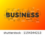 business strategy concept.... | Shutterstock .eps vector #1154344213